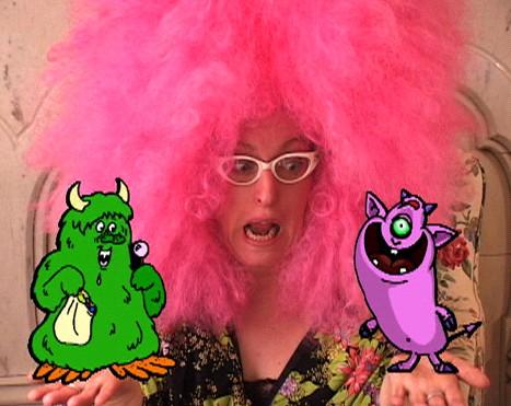 Elizabeth Fiend Pink Wig